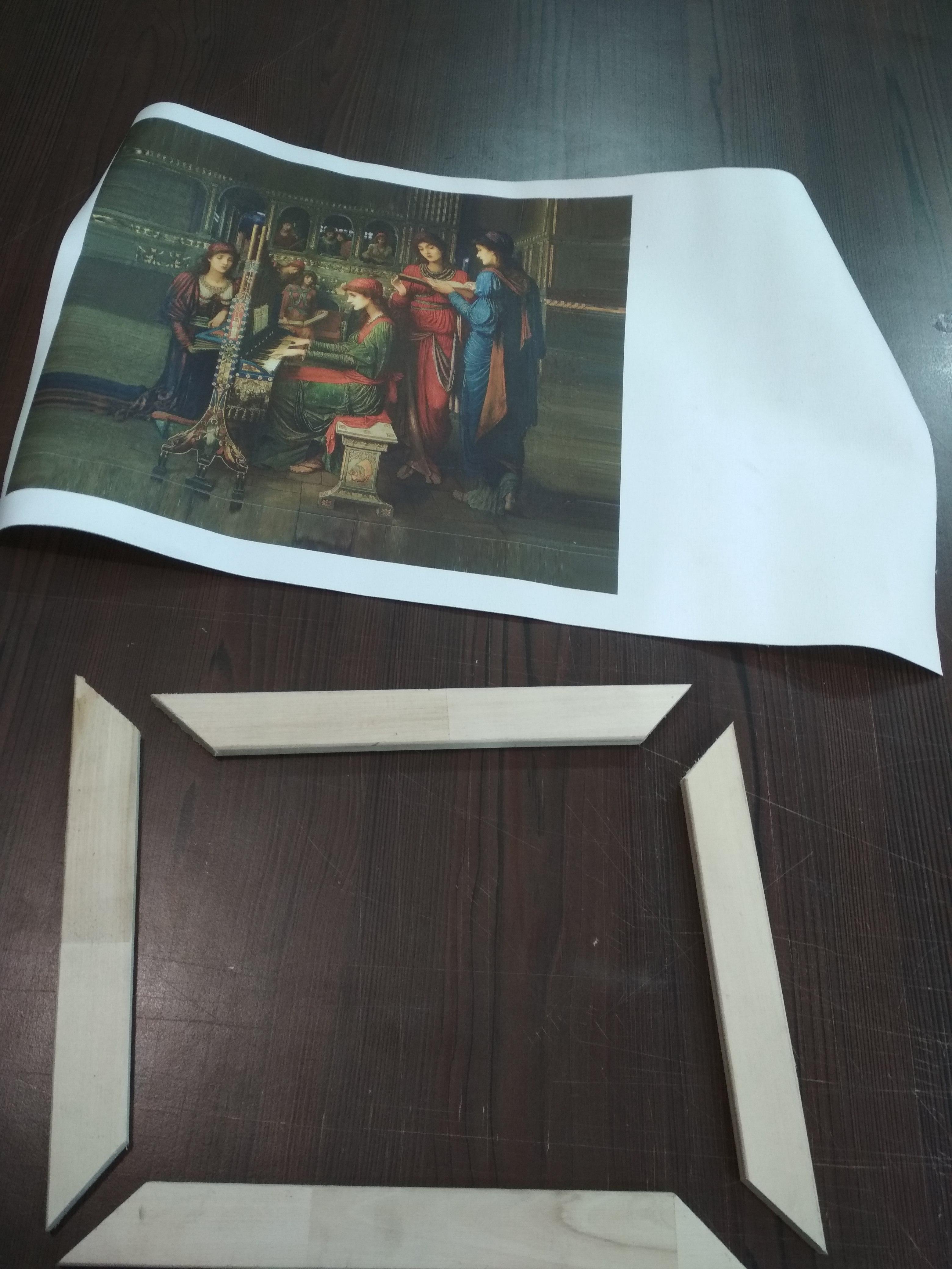 Изготовление картин на подрамнике